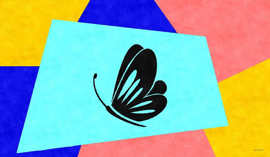 Oil Painting - Black Papillon by Janos Szijarto