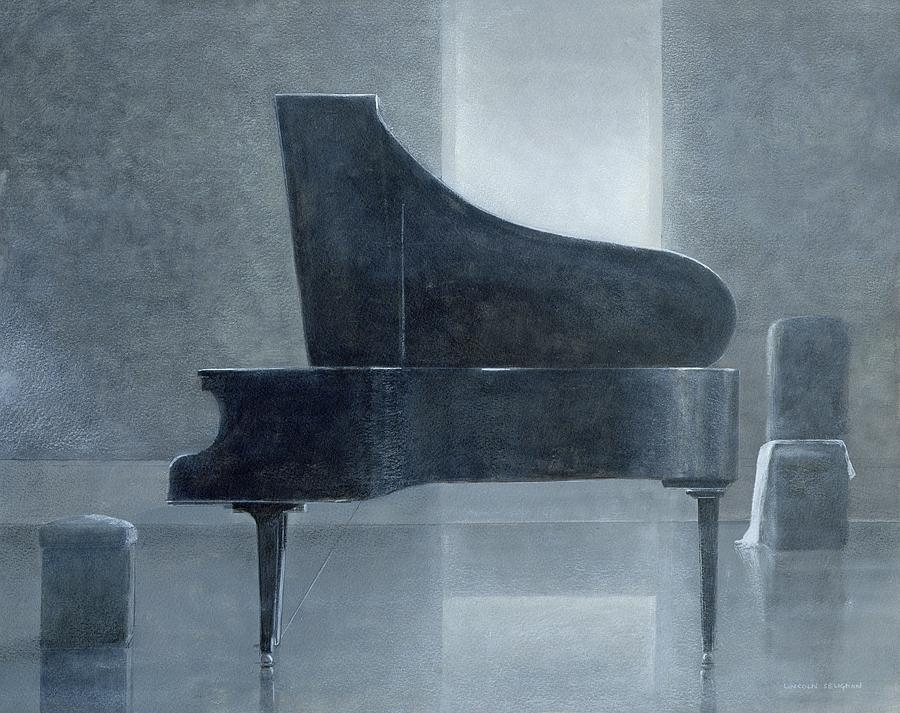 Pianist Painting - Black Piano 2004 by Lincoln Seligman