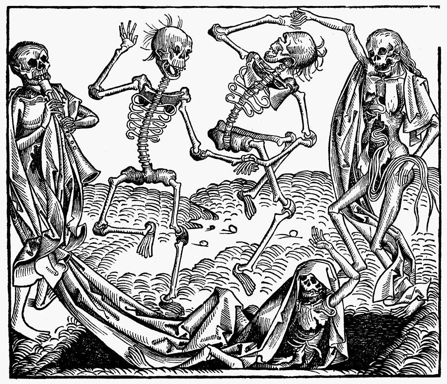 1493 Painting - Black Plague, 1493 by Granger