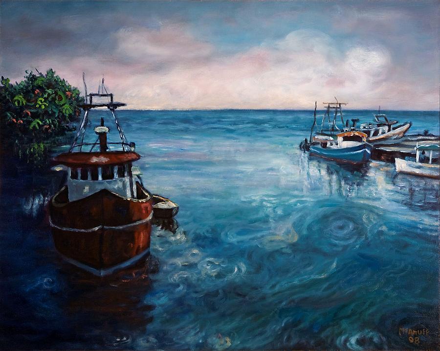 Black River Painting - Black River 2 by Ewan  McAnuff