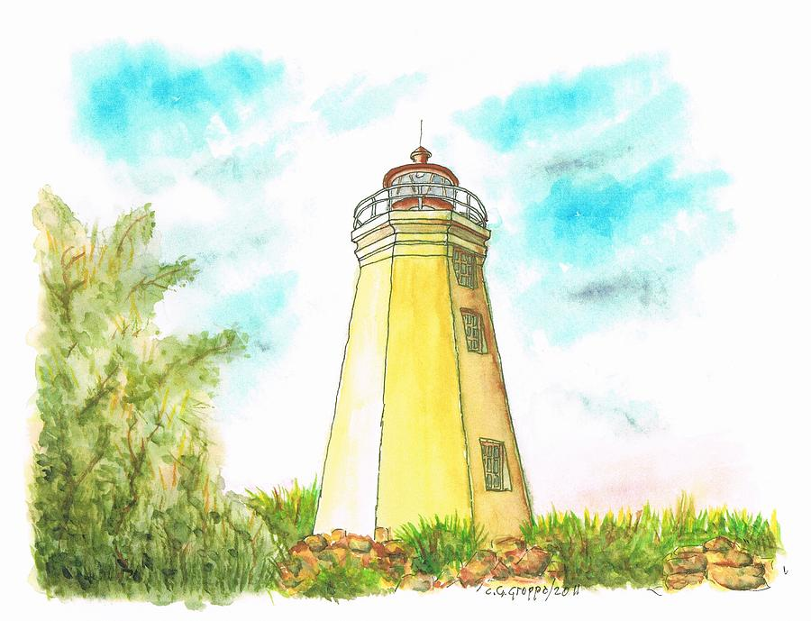 Connecticut Painting - Black Rock Harbor Lighthouse - Connecticut by Carlos G Groppa