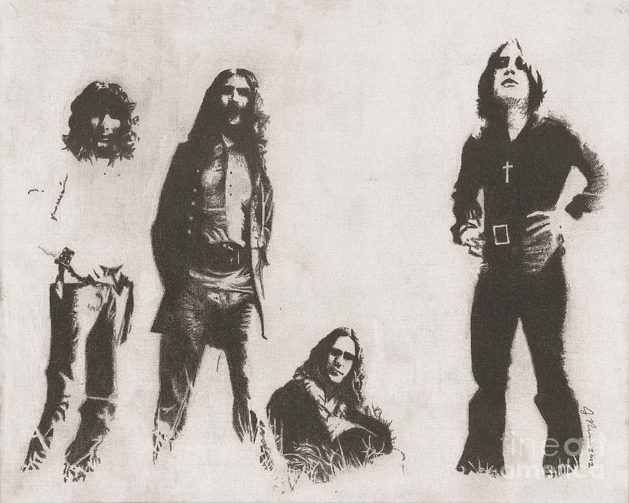 Black Sabbath Drawing by Jeff Ridlen