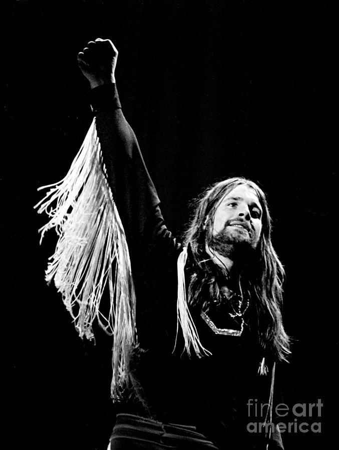 Black Sabbath Photograph - Black Sabbath Ozzy 1977 by Chris Walter