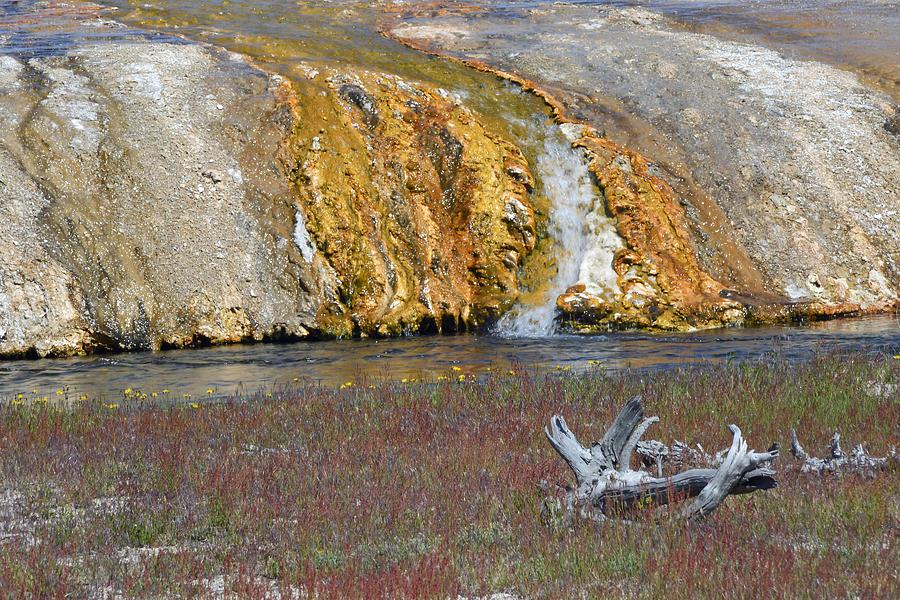 Yellowstone Photograph - Black Sand Basin Runoff Yellowstone by Bruce Gourley