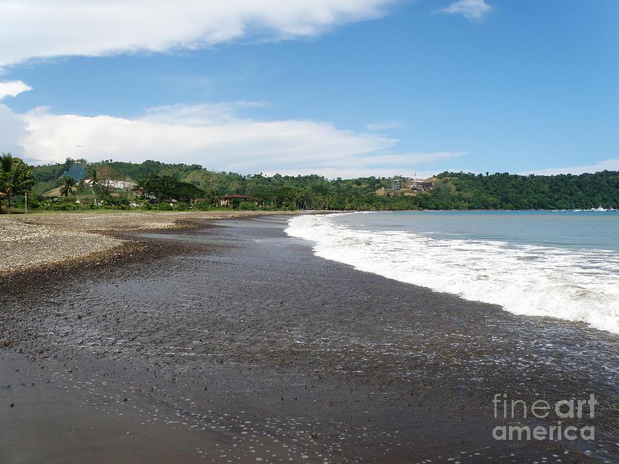 Black Sand Beach Costa Rica Photograph By Dejavu Designs