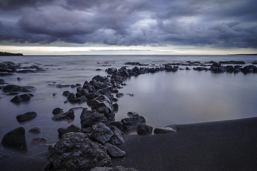 Big Island - Black Sand Beach Pastel