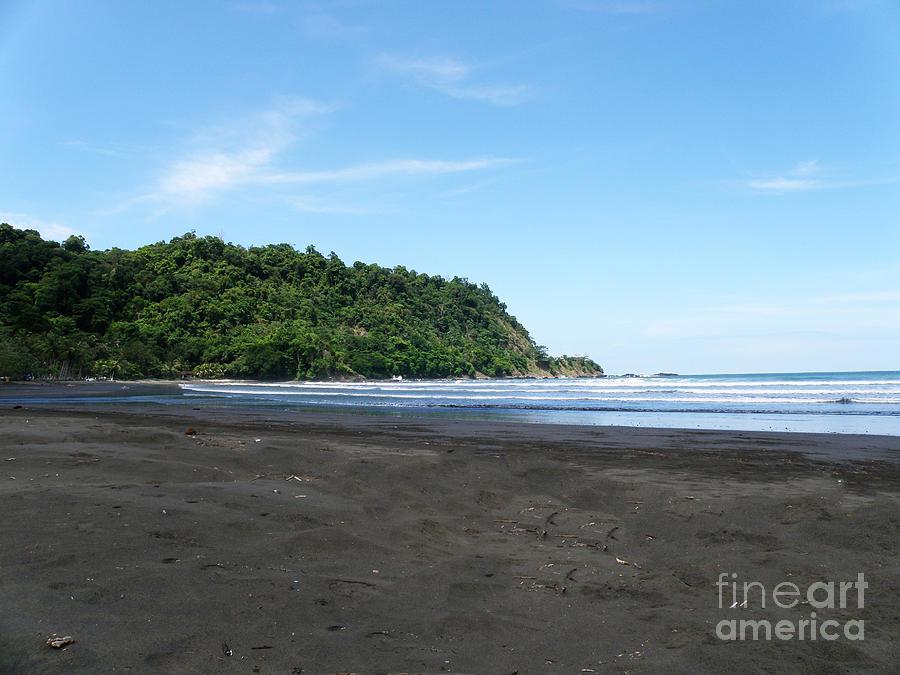 Black Sand Beach In Costa Rica Photograph By Dejavu Designs