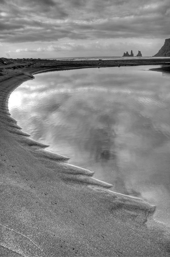 Europe Photograph - Black Sand Icelandic Beach by Claudio Bacinello
