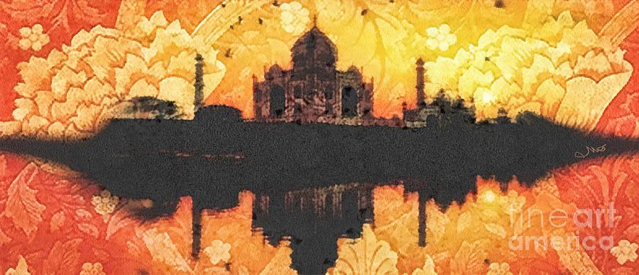 Black Taj Mahal Painting - Black Taj Mahal by Mo T
