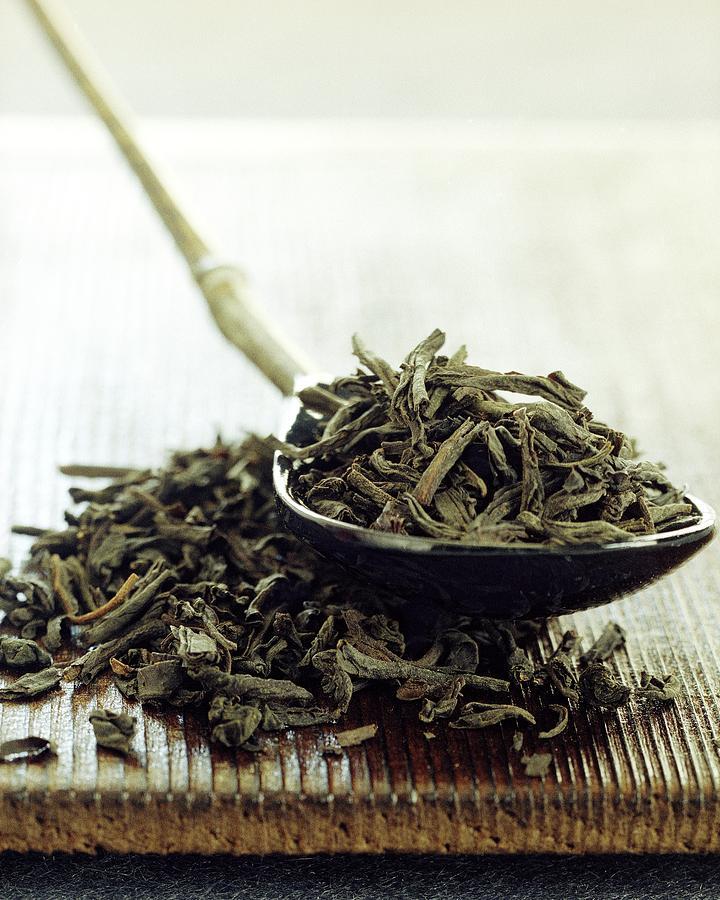 Black Tea Leaves Photograph by Romulo Yanes