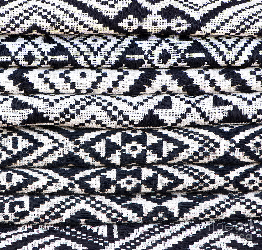 Vietnam Photograph - Black Thai Fabric 02 by Rick Piper Photography