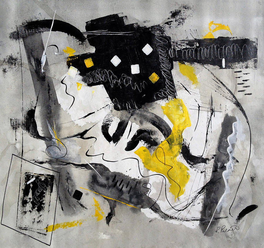 Abstract Painting - Black Tie And Tails by Ruth Palmer
