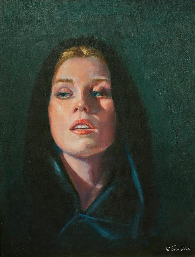 Figurative Painting - Black Velvet by Sarah Parks