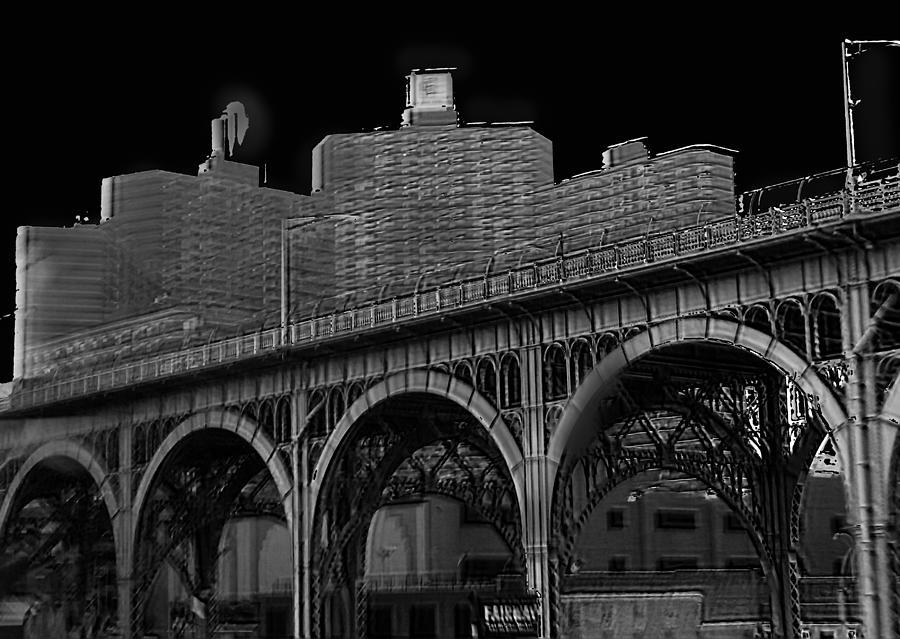 New York Photograph - Black White City by Michael  Podesta
