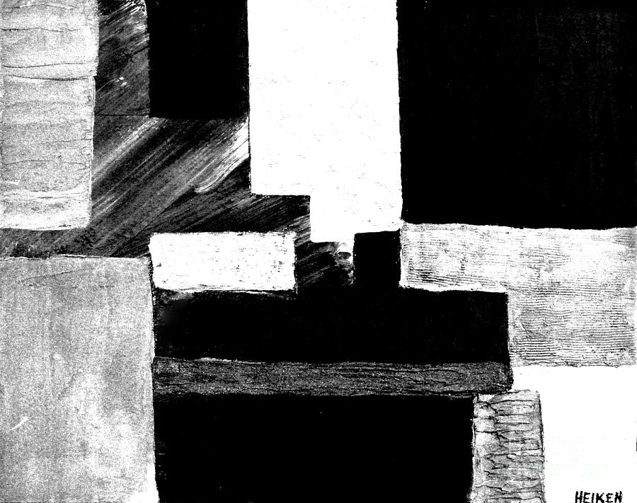 Photo Photograph - Black White Gray Abstract by Marsha Heiken