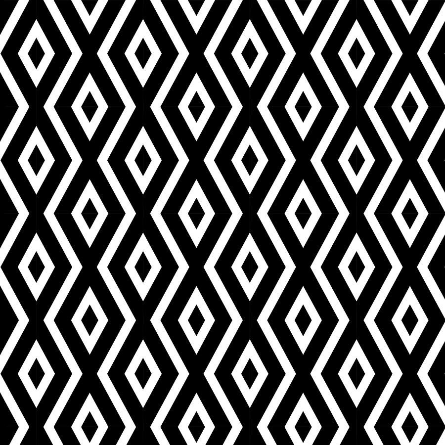 Black And White Mixed Media - Black and White Pattern by Christina Rollo