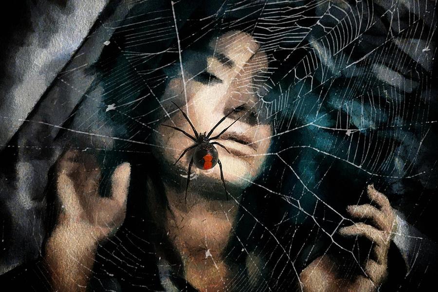 Widow Digital Art - Black Widow by Gun Legler