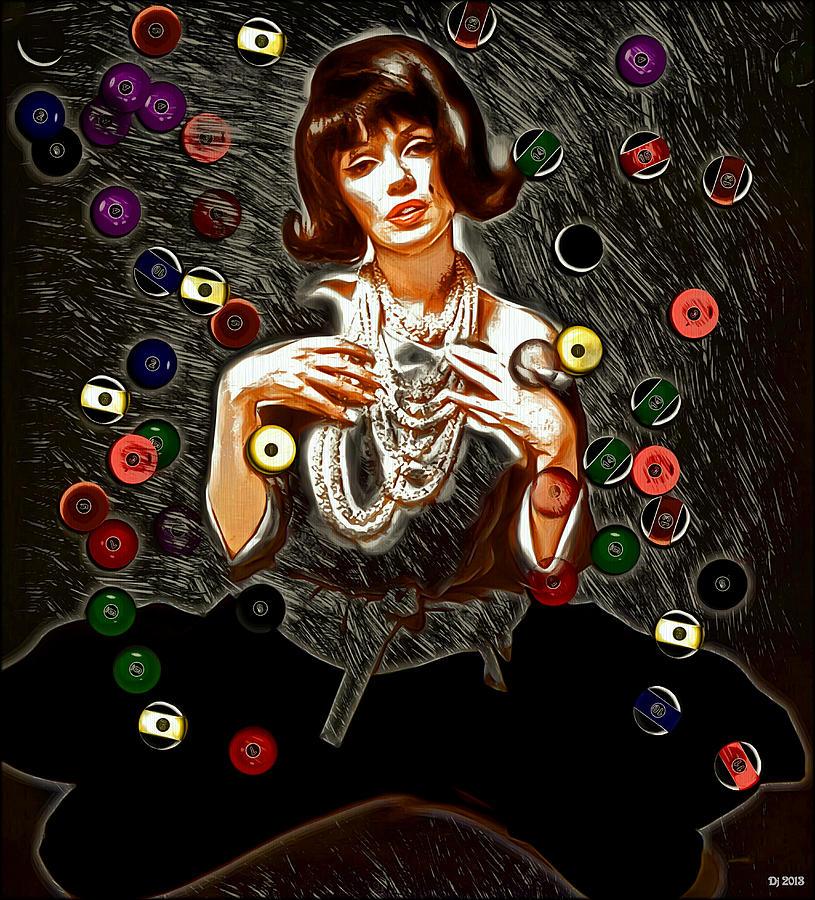 Mm Digital Art - Black Wig Mm by Daniel Janda