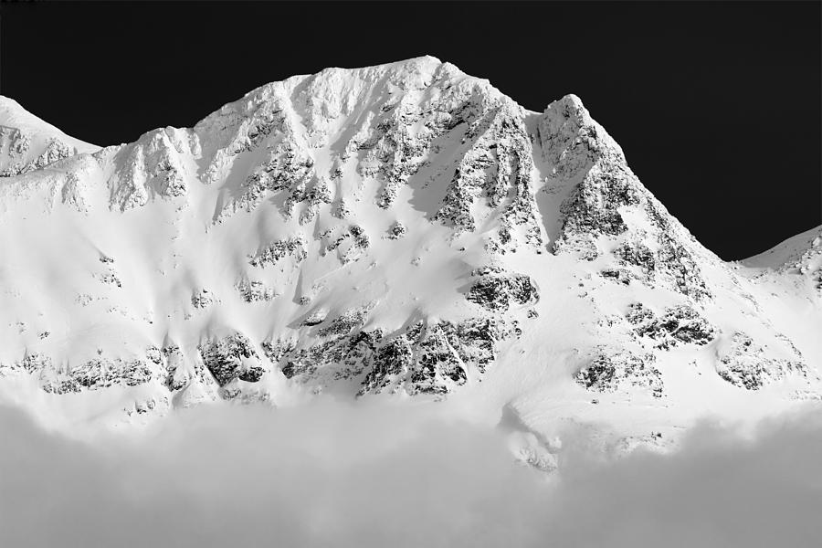 Whistler Photograph - Blackcomb Above The Clouds In Black And White by Pierre Leclerc Photography