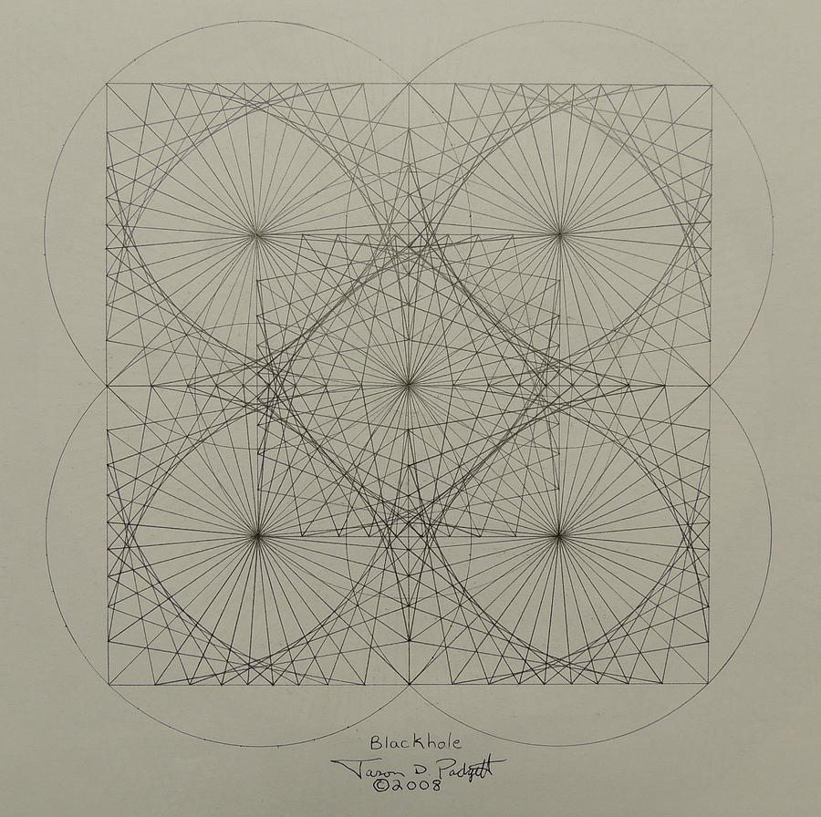Fractals Drawing - Blackhole by Jason Padgett