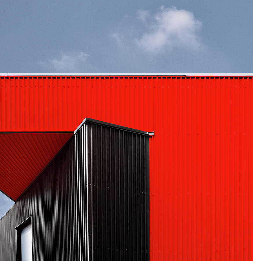Red Photograph - Black/red. by Harry Verschelden