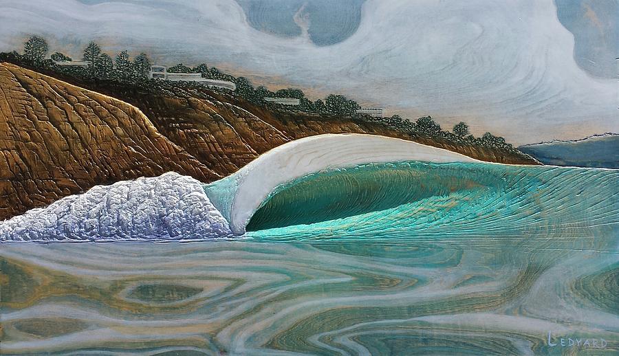 Seascape Painting - Blacks Beach by Nathan Ledyard