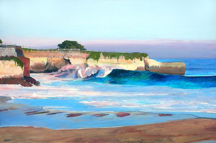 Blacks Painting - Blacks Beach - Santa Cruz by Peter Forbes