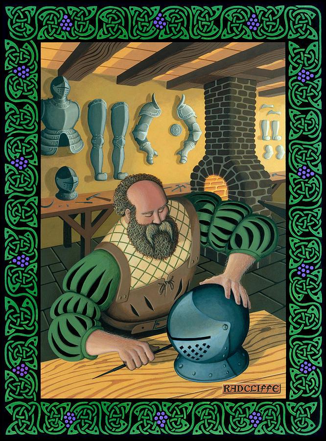 Blacksmith Painting - Blacksmith Armourer by Guy Radcliffe