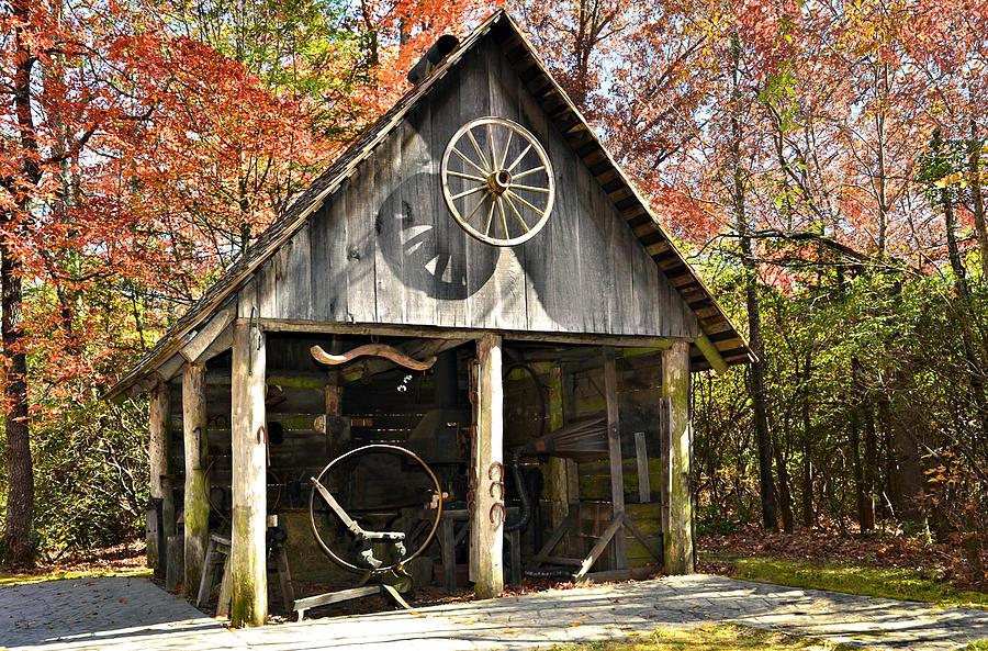 Antique Photograph - Blacksmith Shop by Susan Leggett