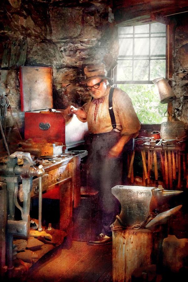 Blacksmith Digital Art - Blacksmith - The Smithy  by Mike Savad