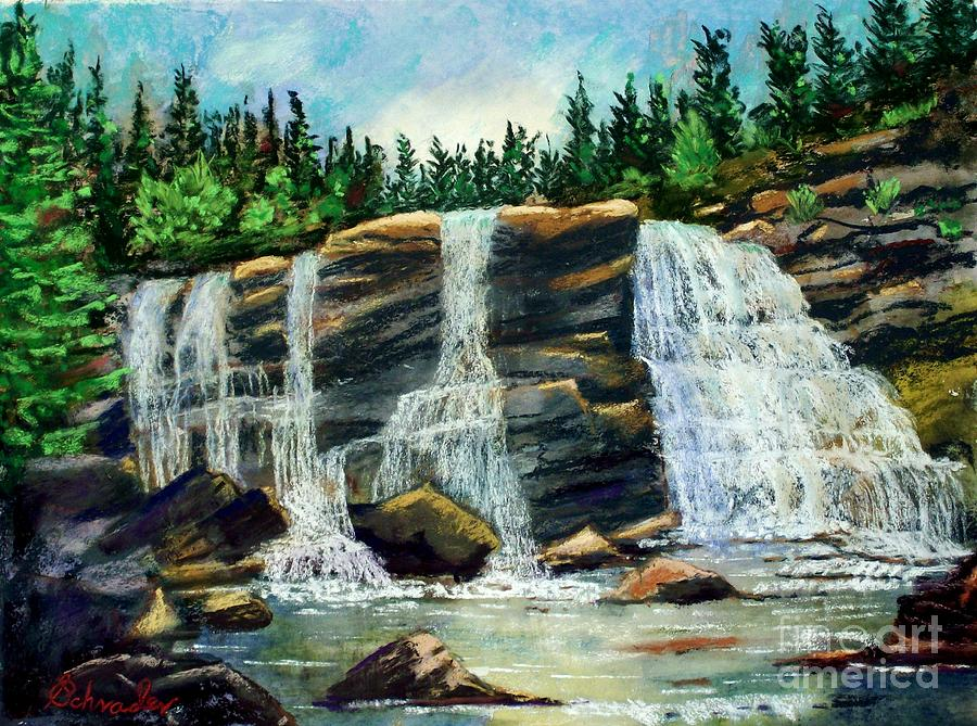 West Virginia Pastel - Blackwater Falls by Bruce Schrader