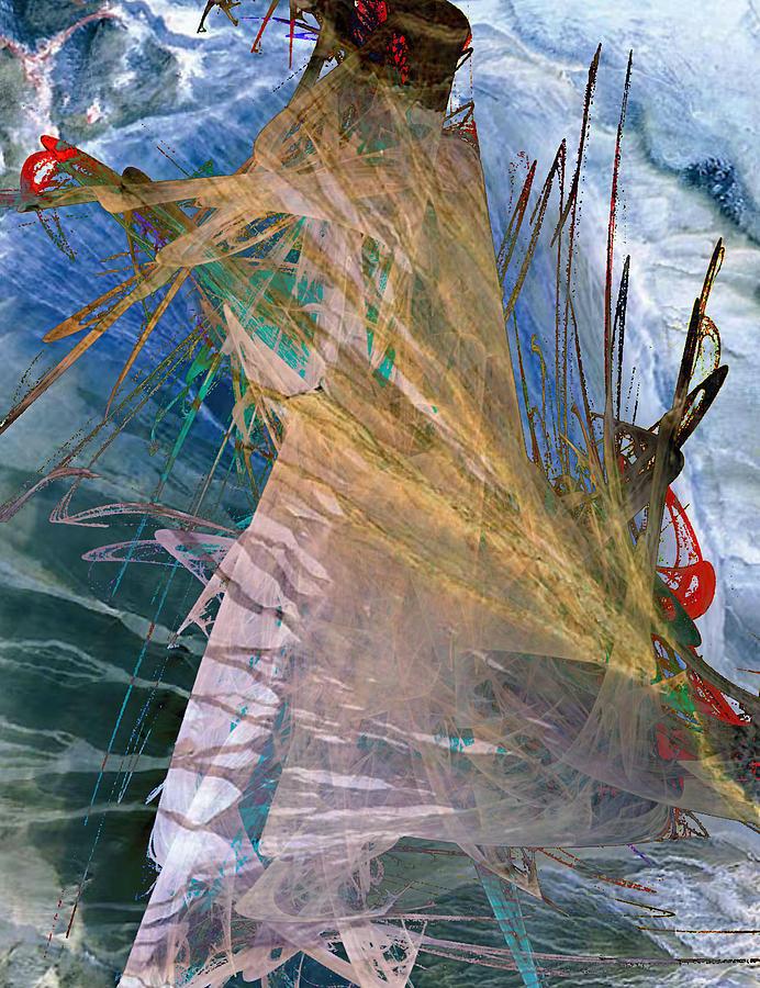 Digital Digital Art - Blade Apoptosis Brink  by Mary Clanahan