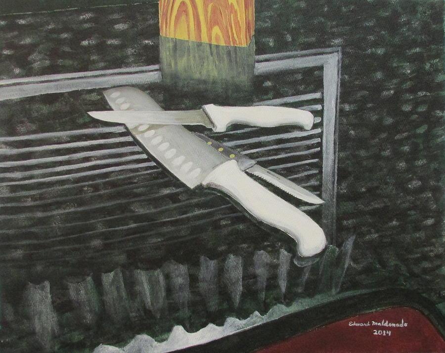 Still Life Painting - Blades by Edward Maldonado
