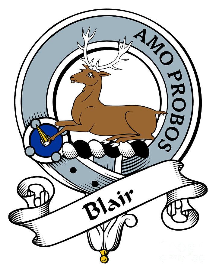 Clan Digital Art - Blair Clan Badge by Heraldry