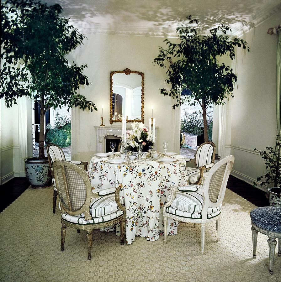 Blairs Dining Room Photograph by Horst P. Horst