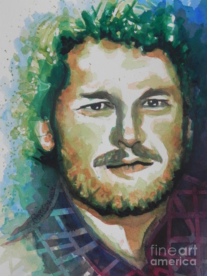 Watercolor Painting Painting - Blake Shelton  Country Singer by Chrisann Ellis