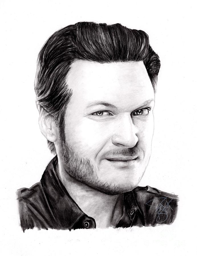 Blake Shelton Drawing - Blake Shelton by Rosalinda Markle