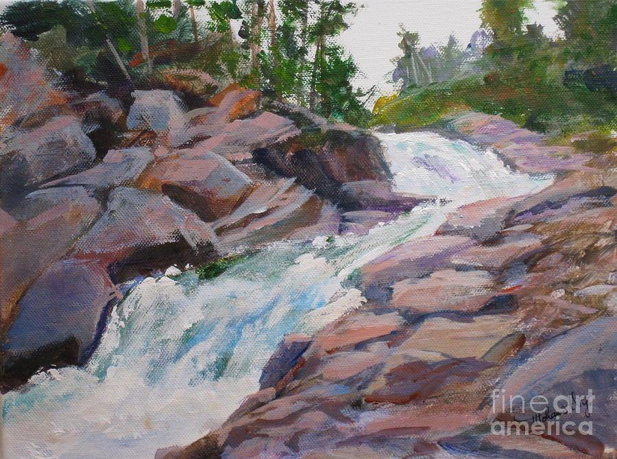 Background Painting - Blakiston Falls by Mohamed Hirji