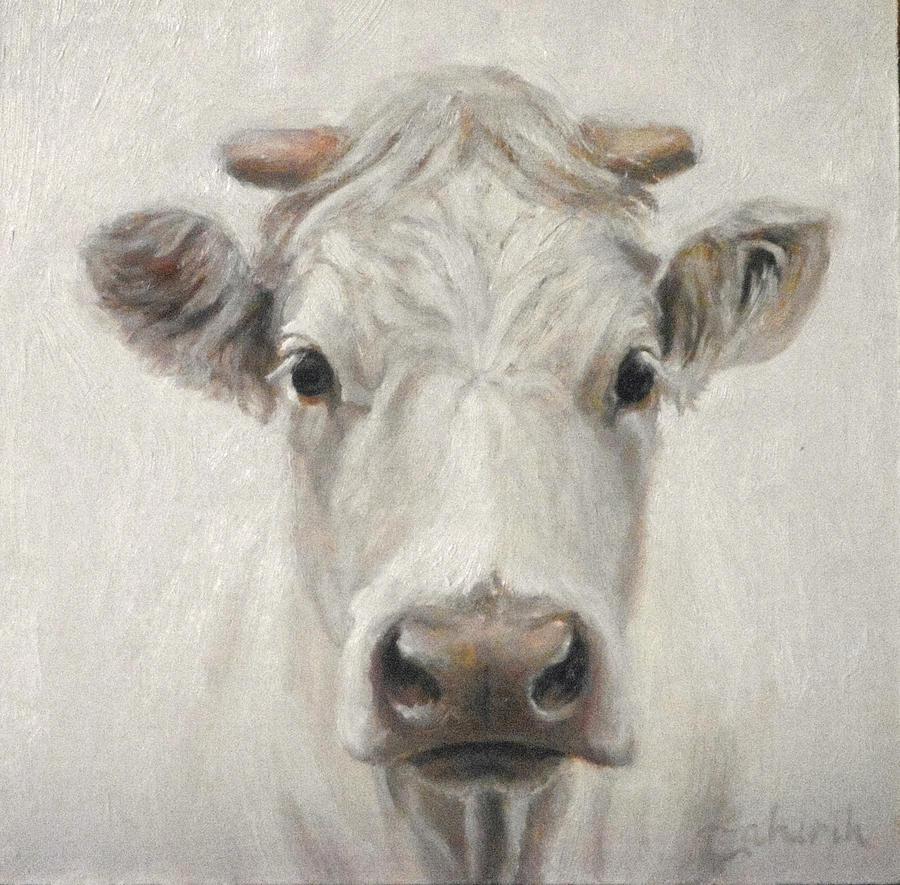 Cow Painting - Blanca by Tahirih Goffic