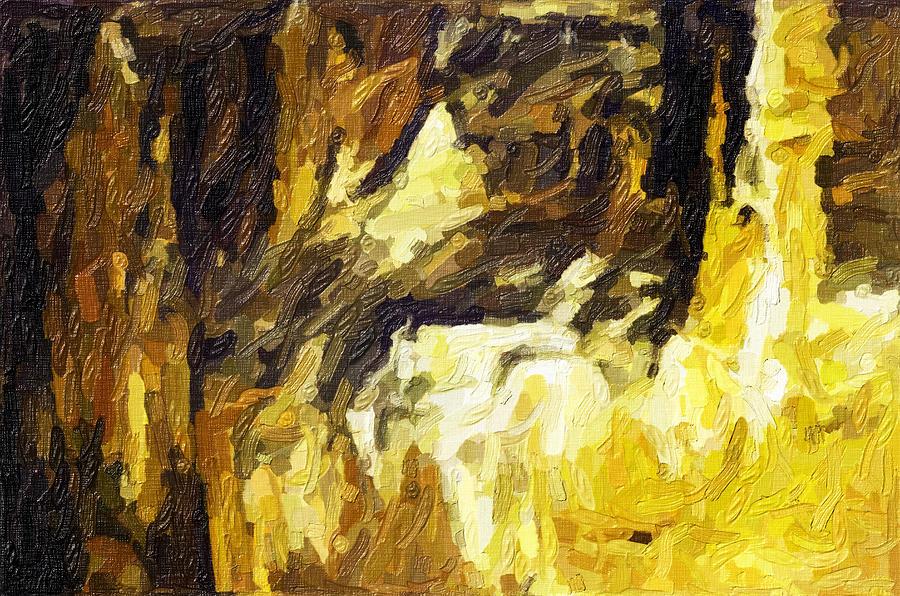 Landscapes Paintings Photograph - Blanchard Springs Caverns-arkansas Series 02 by David Allen Pierson