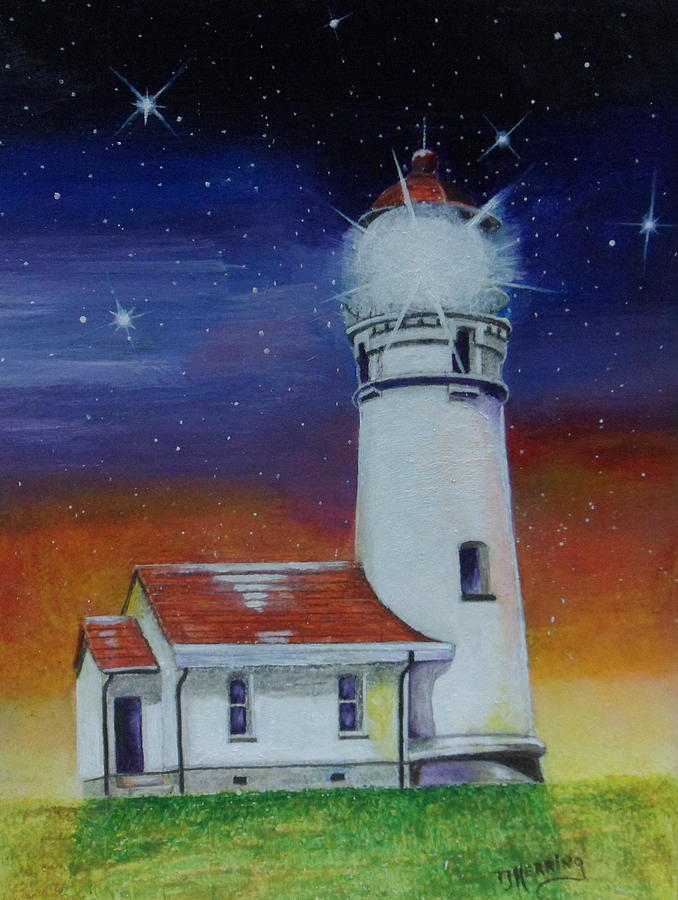 Blanco Lighthouse by Thomas J Herring