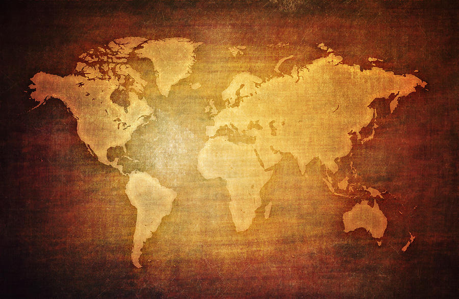 Blank world map vintage digital art by eti reid design digital art blank world map vintage by eti reid gumiabroncs