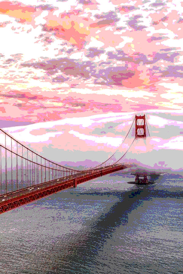 Blanket Around Golden Gate Photograph