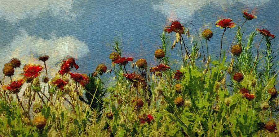 Firewheel Painting - Blanketing The Sky by Jeffrey Kolker