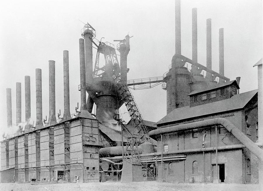 Blast Furnace Construction : Blast furnace photograph by hagley museum and archive