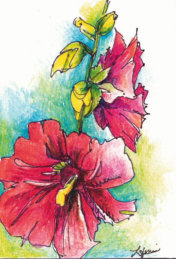 Flower Painting - Blazing Red by Lynda Dorris