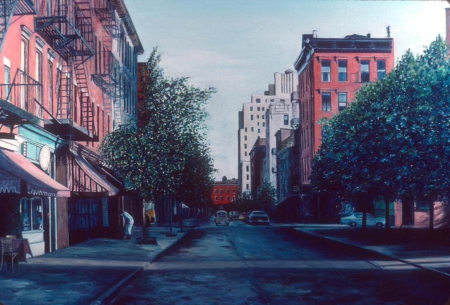 Awning Painting - Bleeker Street by Anthony Butera