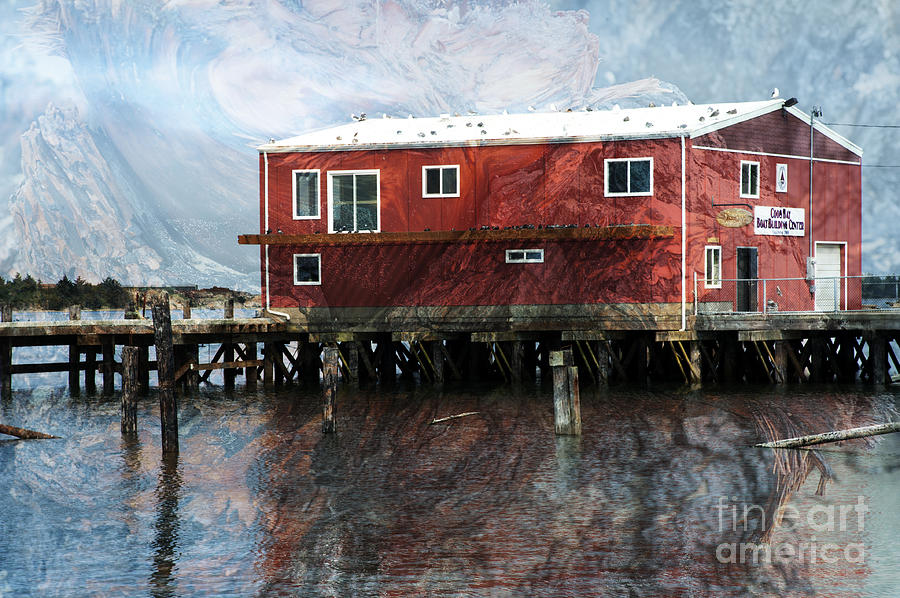 Oregon Photograph - Blended Oregon Dock And Structure by Ronald Hoggard