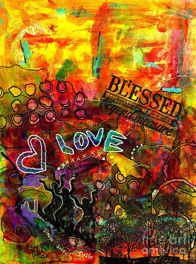 Acrylic Painting - Blessed Beyond Measure by Angela L Walker