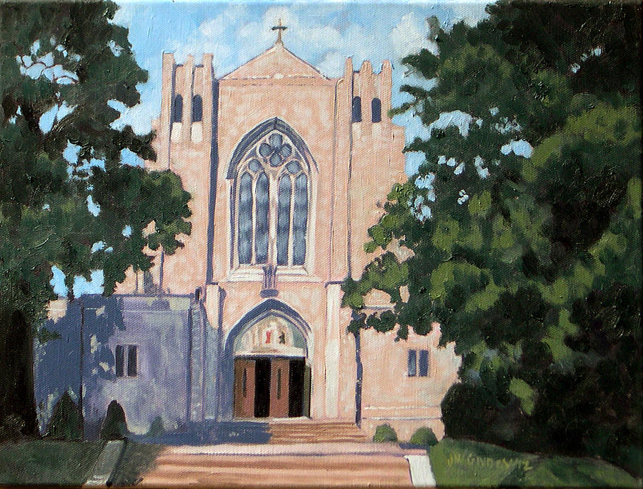 Churches Painting - Blessed Sacrament Church by Joan McGivney